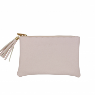 Louvelle Vegan Leather Beauty Bags Small Blush Pink