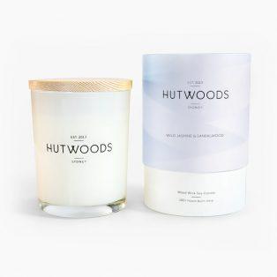 Hutwoods Jasmine & Sandalwood Candle